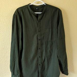 Mandarin collar dress shirt